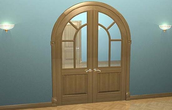 Arochnaya-dver-so-steklyannymi-vstavkami